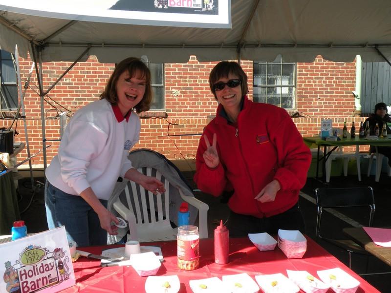 Tina and Martha at the Dog Jog!