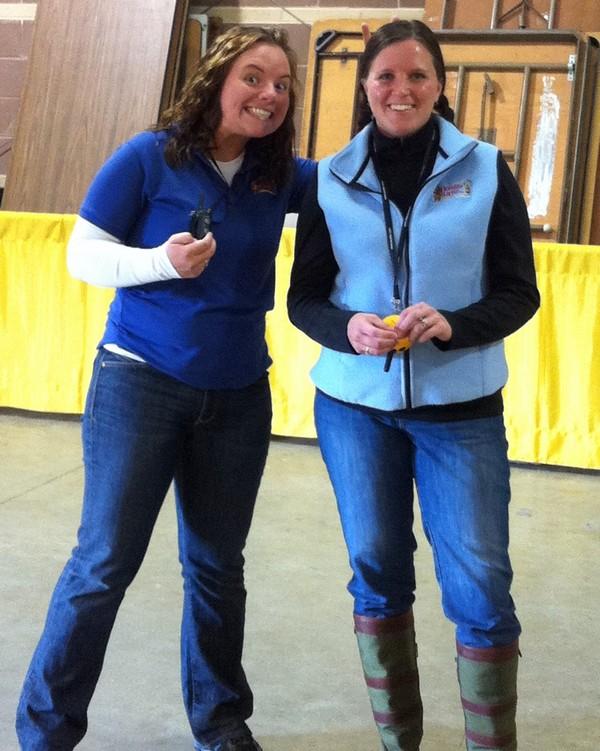 Trainers, Amanda and Melanie having fun!
