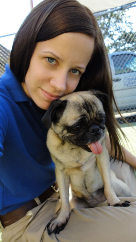 Southside Camp Manager, Stephanie, with Pepper!