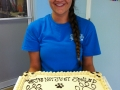 Amanda ready to serve our guests cake!