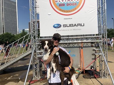 Southside Dog Trainer, Dickie, with his ribbon winning Aussie, Chappie!